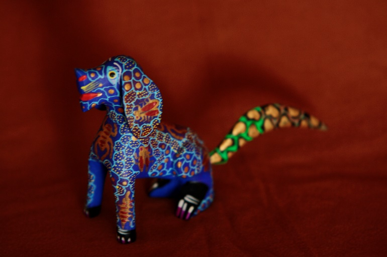 An alebrije made to resemble a dog.